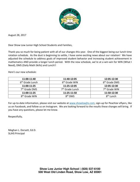 Letter To Students And Parents Wmicentralcom