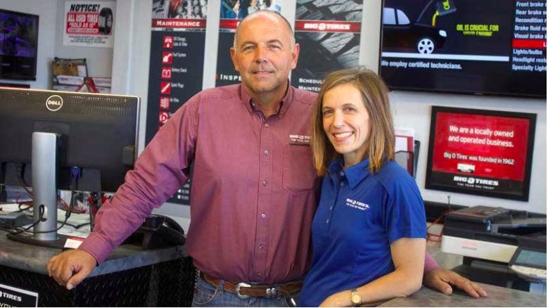 Big O Tires - new owners Preston and Melissa