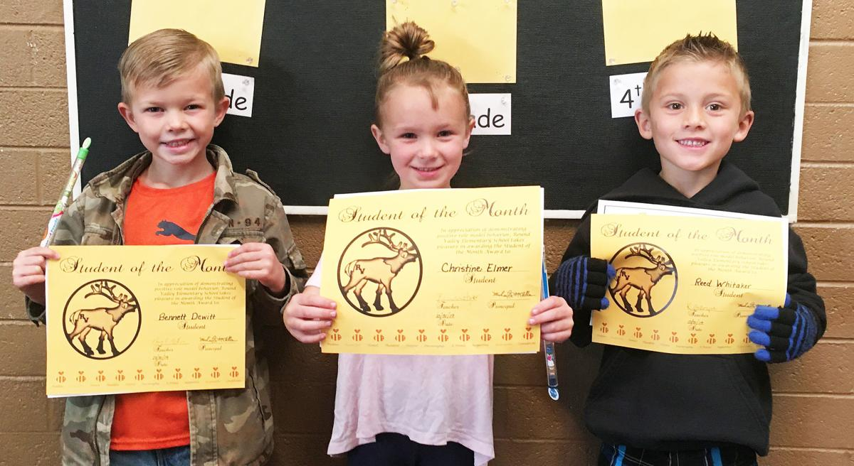 RVES students honor students of the month
