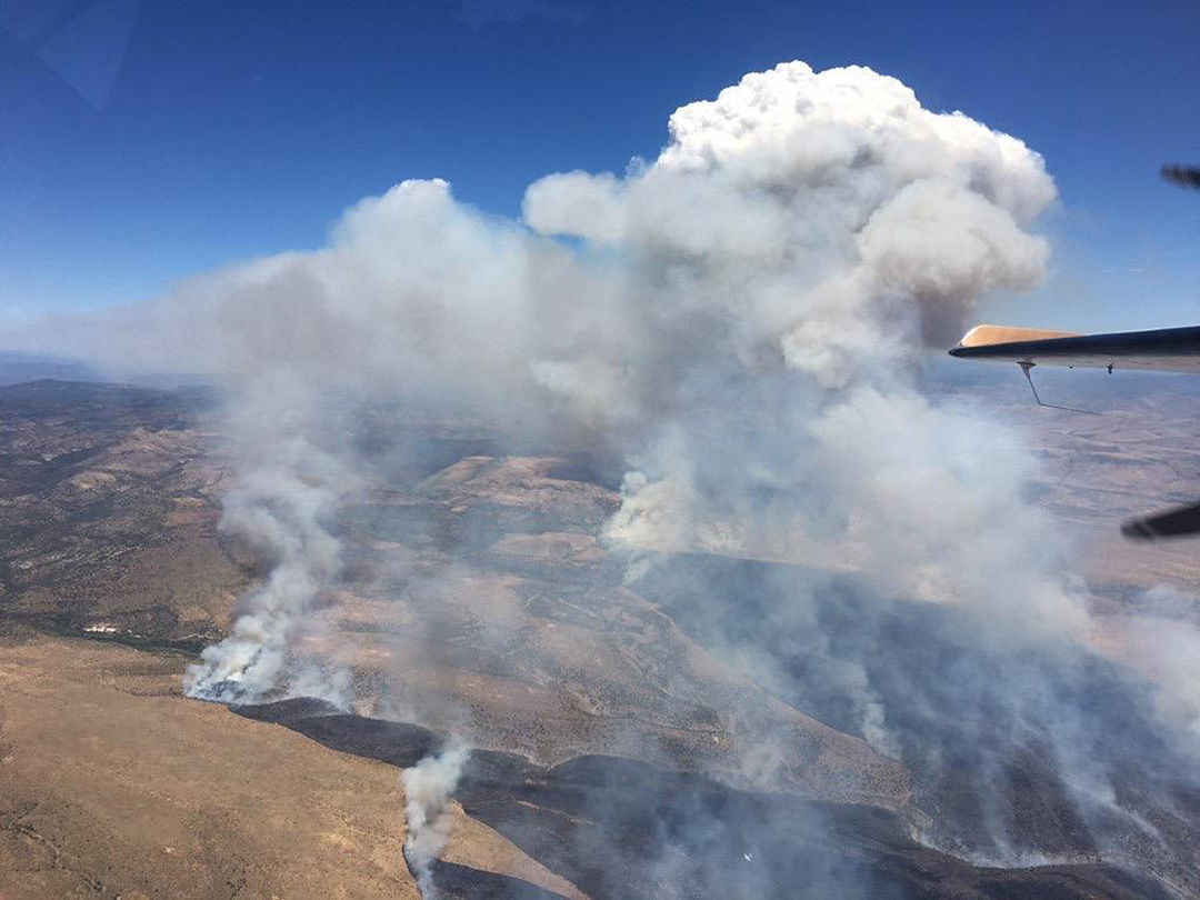 Blue River Fire from the air