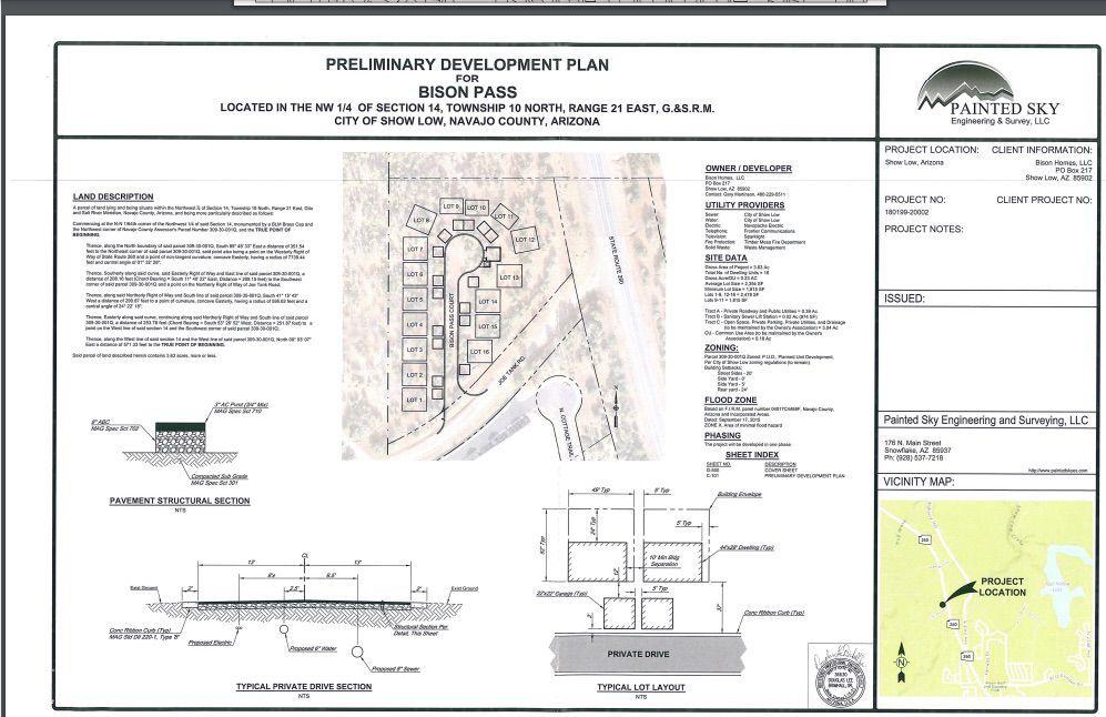 Preliminary development plan