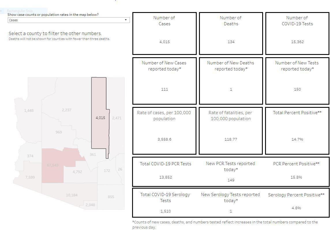 Navajo County case summary
