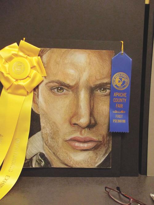 Art student takes four blue ribbons at county fair | Apache