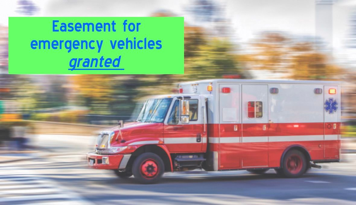 Emergency vehicle in motion