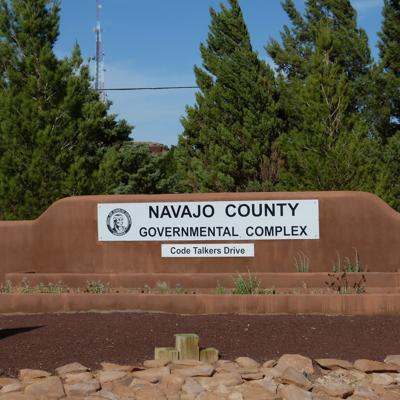 Navajo County Government Center sign