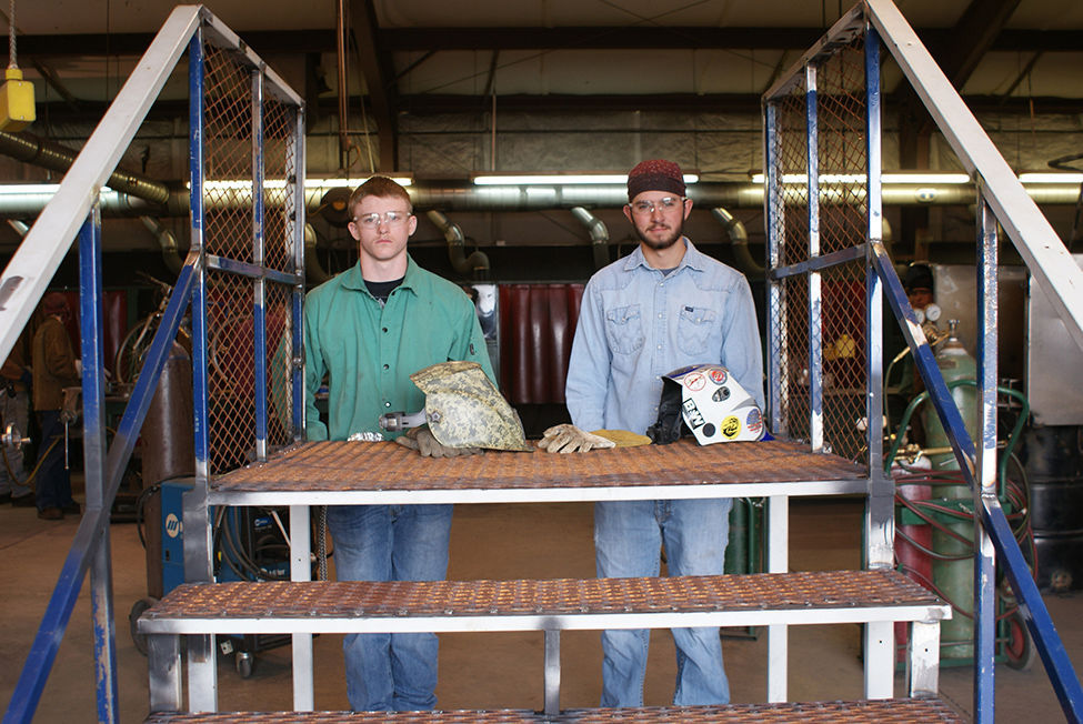 NPC welding students build steps for Show Low Animal Shelter