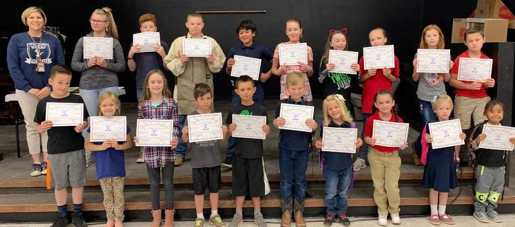 Golden Rule students of the month