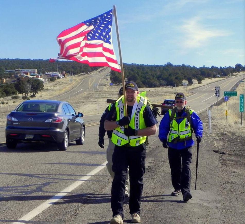 AZ rangers Arizona Rangers 14 mile march is
