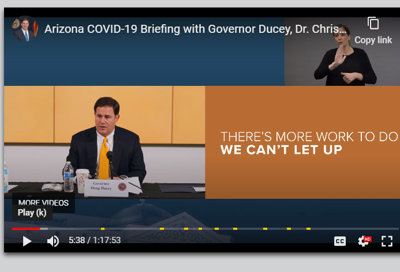 Gov. Ducey's update on Monday, June 29, 2020