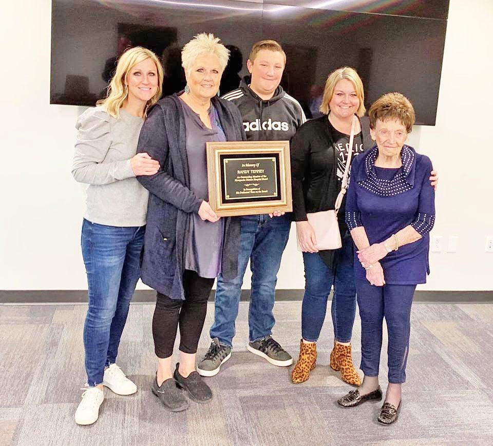 Memorial plaque presentation honors Randy Tenney