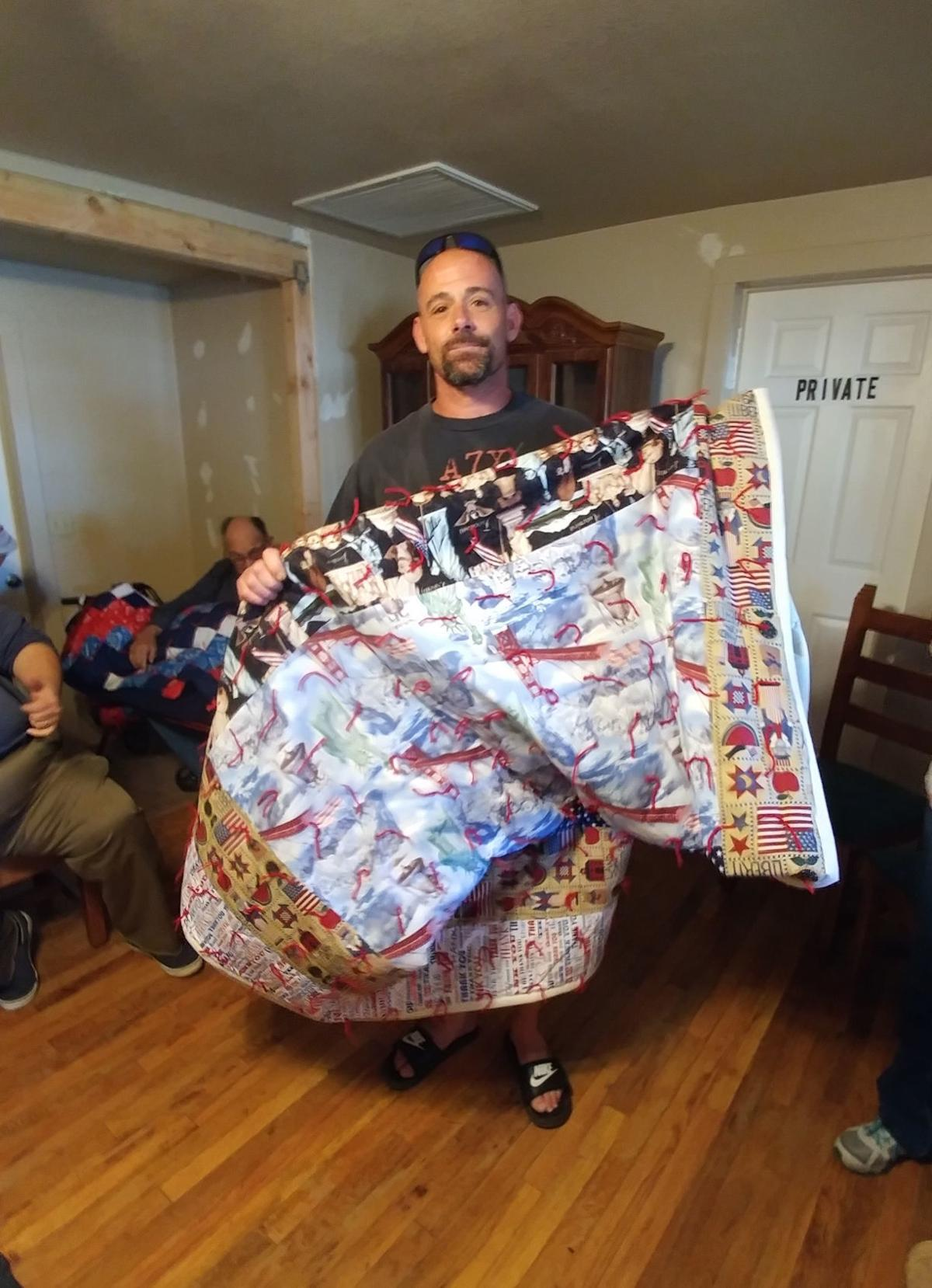 Veterans honored with quilts at Veterans Village Thrift