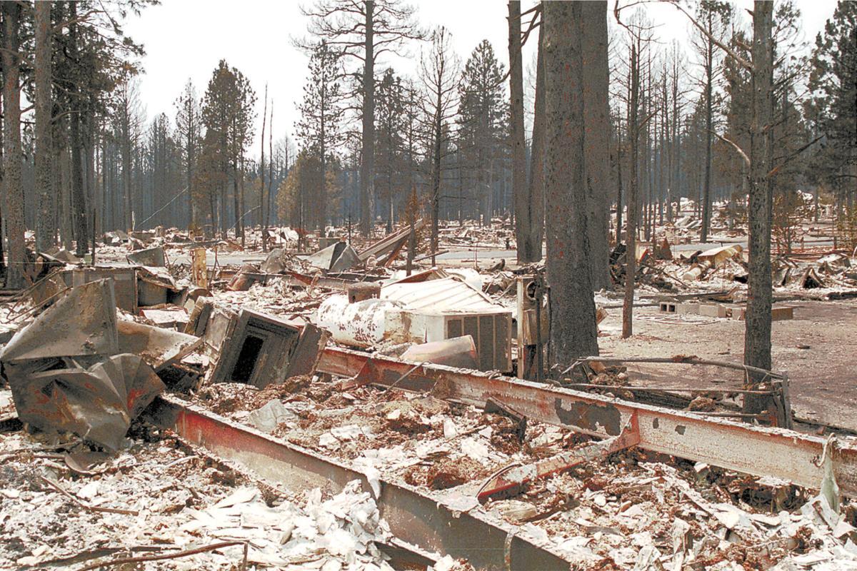 Rodeo-Chediski devastation in Overgaard