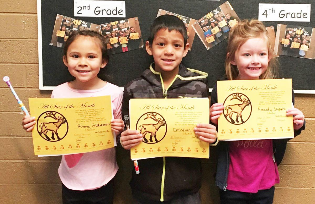 RVES awards January students of the month