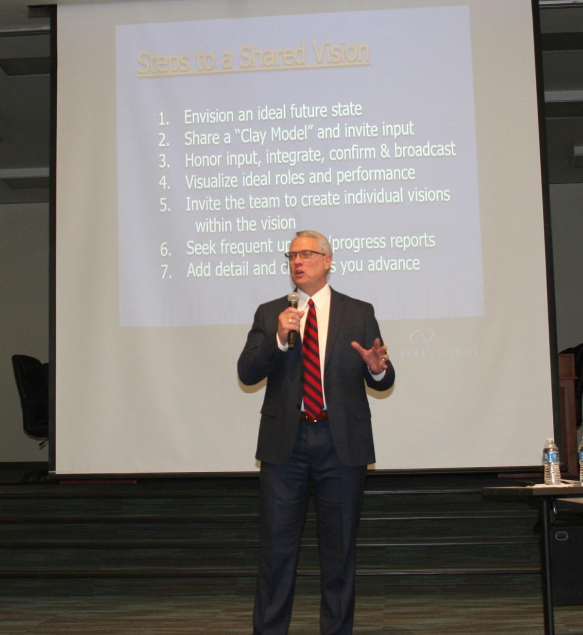 Blue Ridge USD kicks off 'Vision 2020' meeting - Dr. Wright
