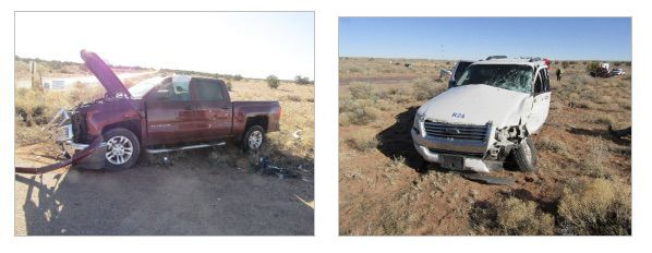 Serious injuries in Concho Hwy collision