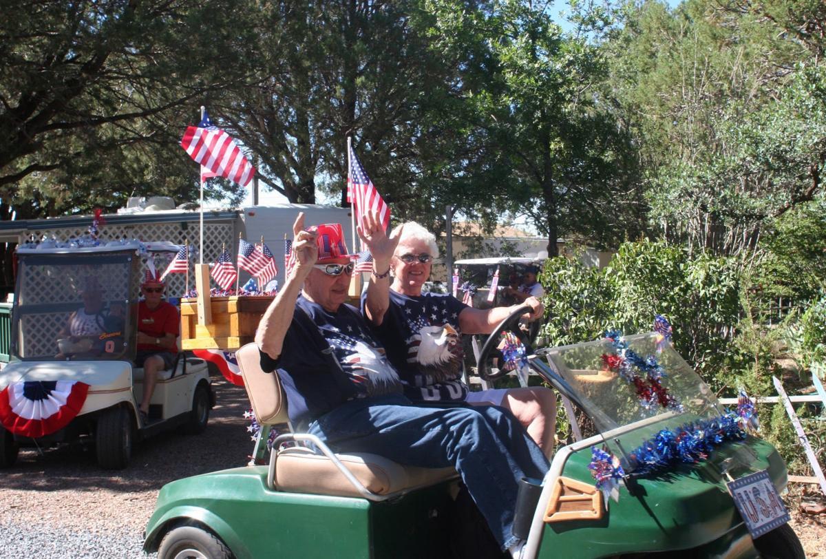 Park patriotism at Country Lane