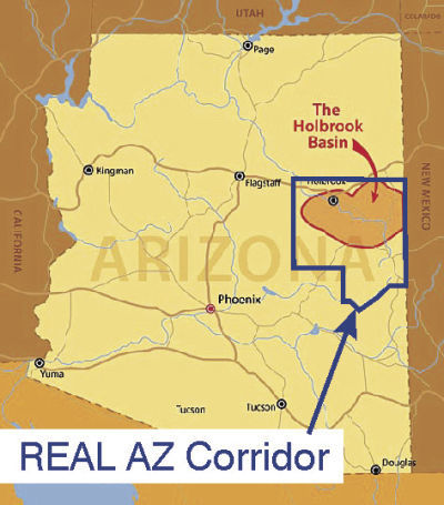Holbrook Basin map