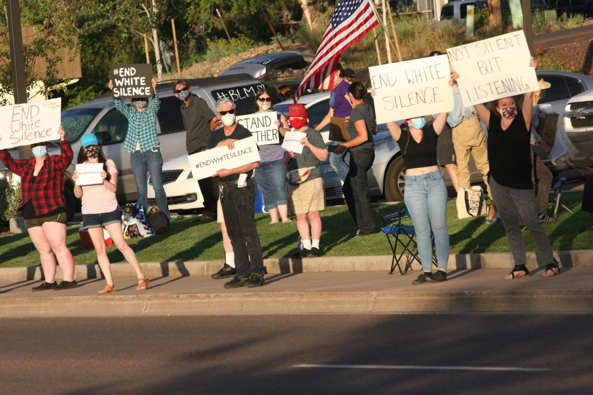 Protesters lined the Deuce of Clubs/US60