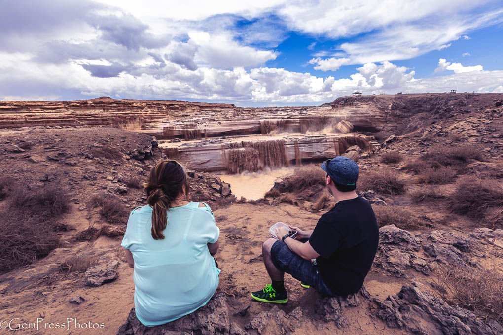 Watching the Grand Falls of the Little Colorado