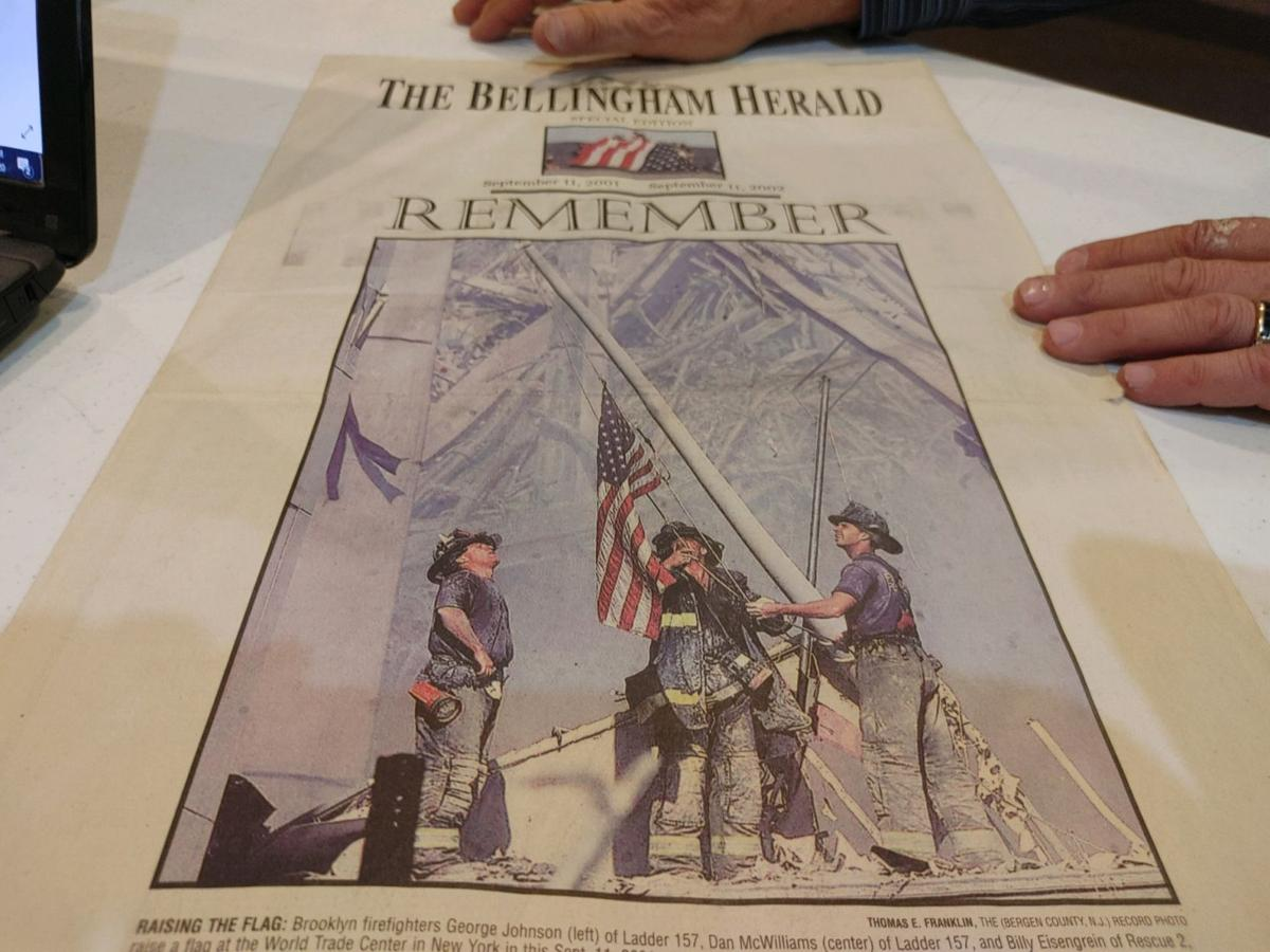 Front page of Bellingham Herald newspaper