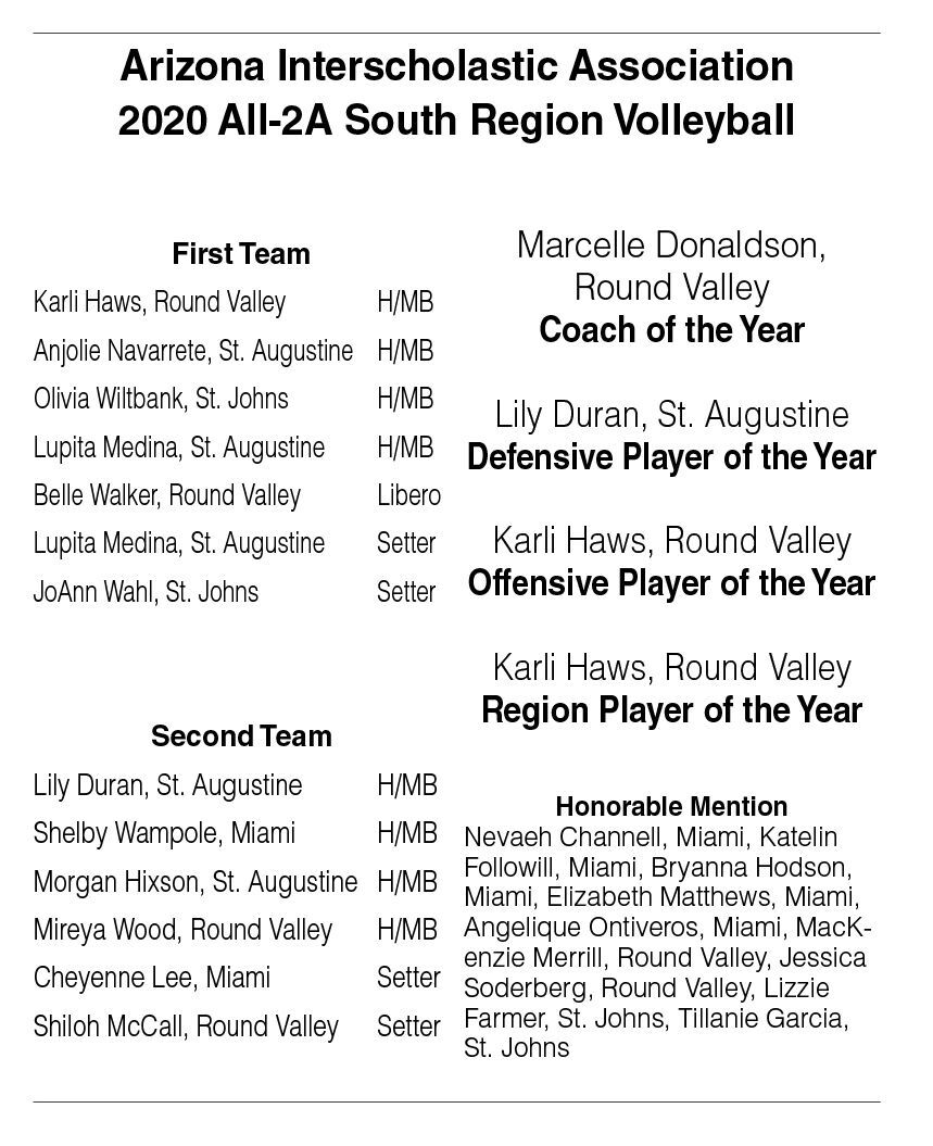 AIA 2020 All-2A South Region Volleyball