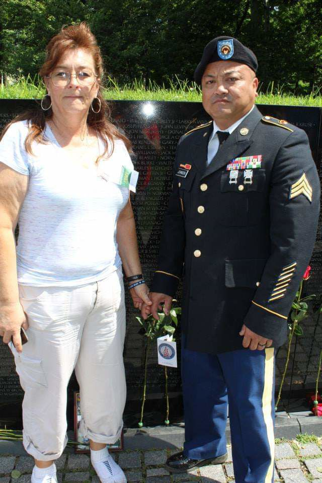 """Lisa Johnson can proudly say today, """"My Dad was a hero."""""""