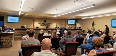 PTLS Council approves rezoning for RV Park - meeting in progress photo