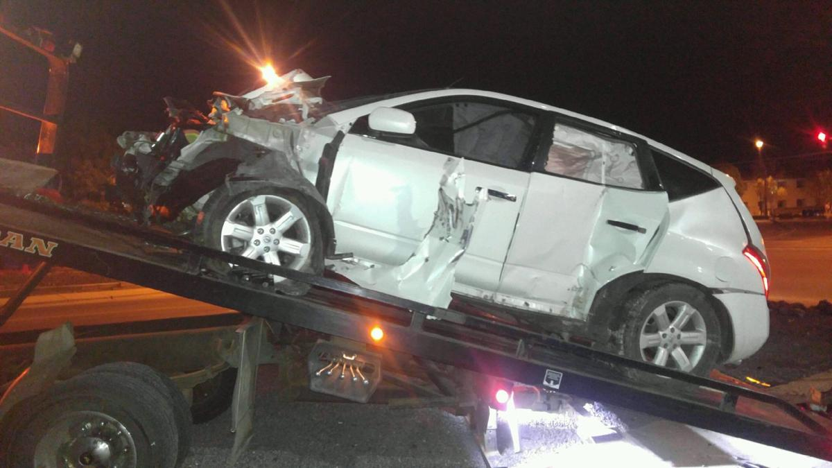 Car Goes Airborne Smashes Into Truck At Hatch Motor Co