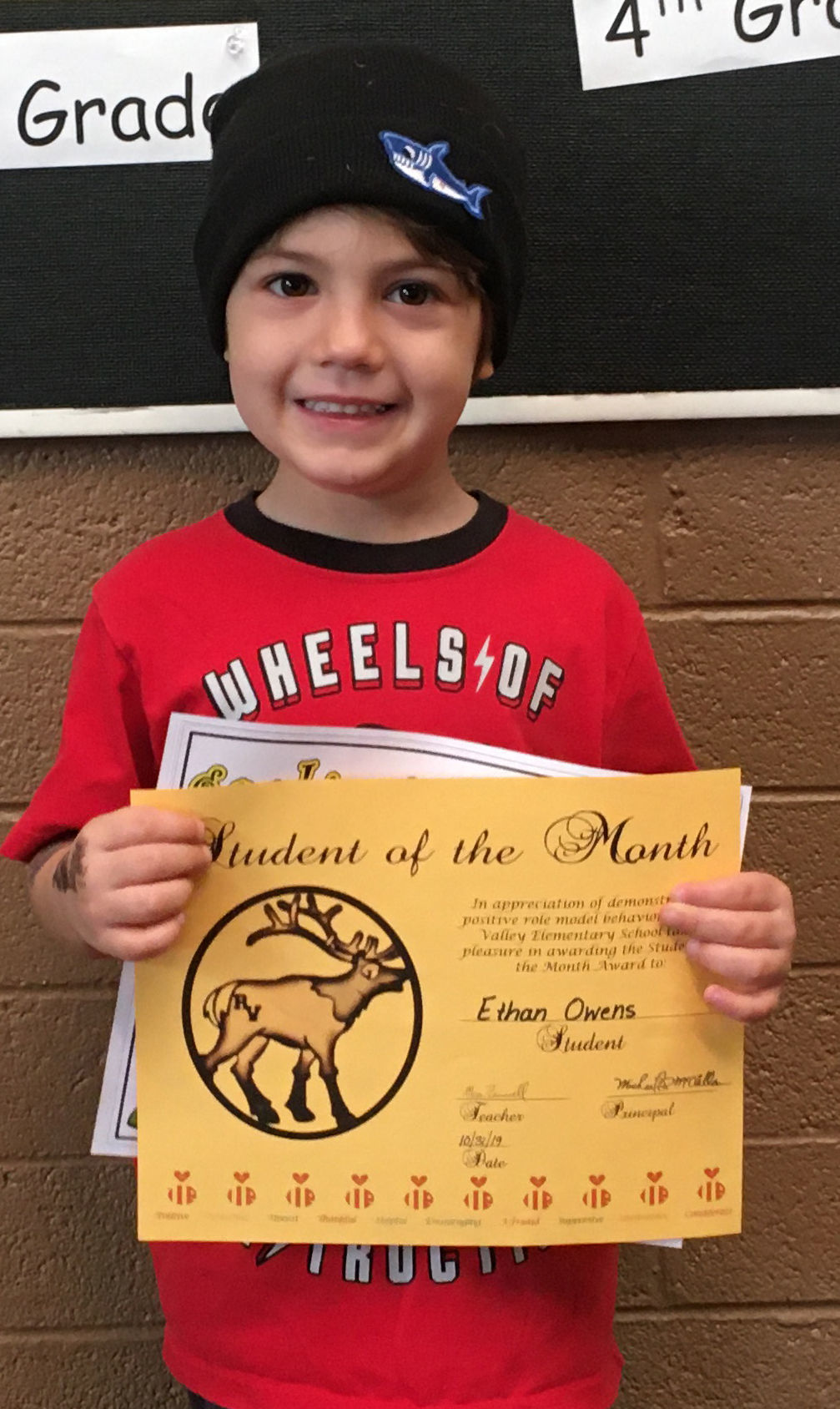 RVES students honors students of the month