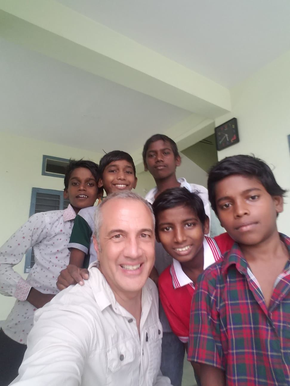 David Knox with boys