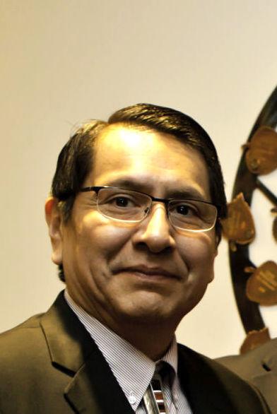 Navajo Nation President Jonathan Nez, Navajo County Attorney Brad Carlyon and Sheriff K.C. Clark