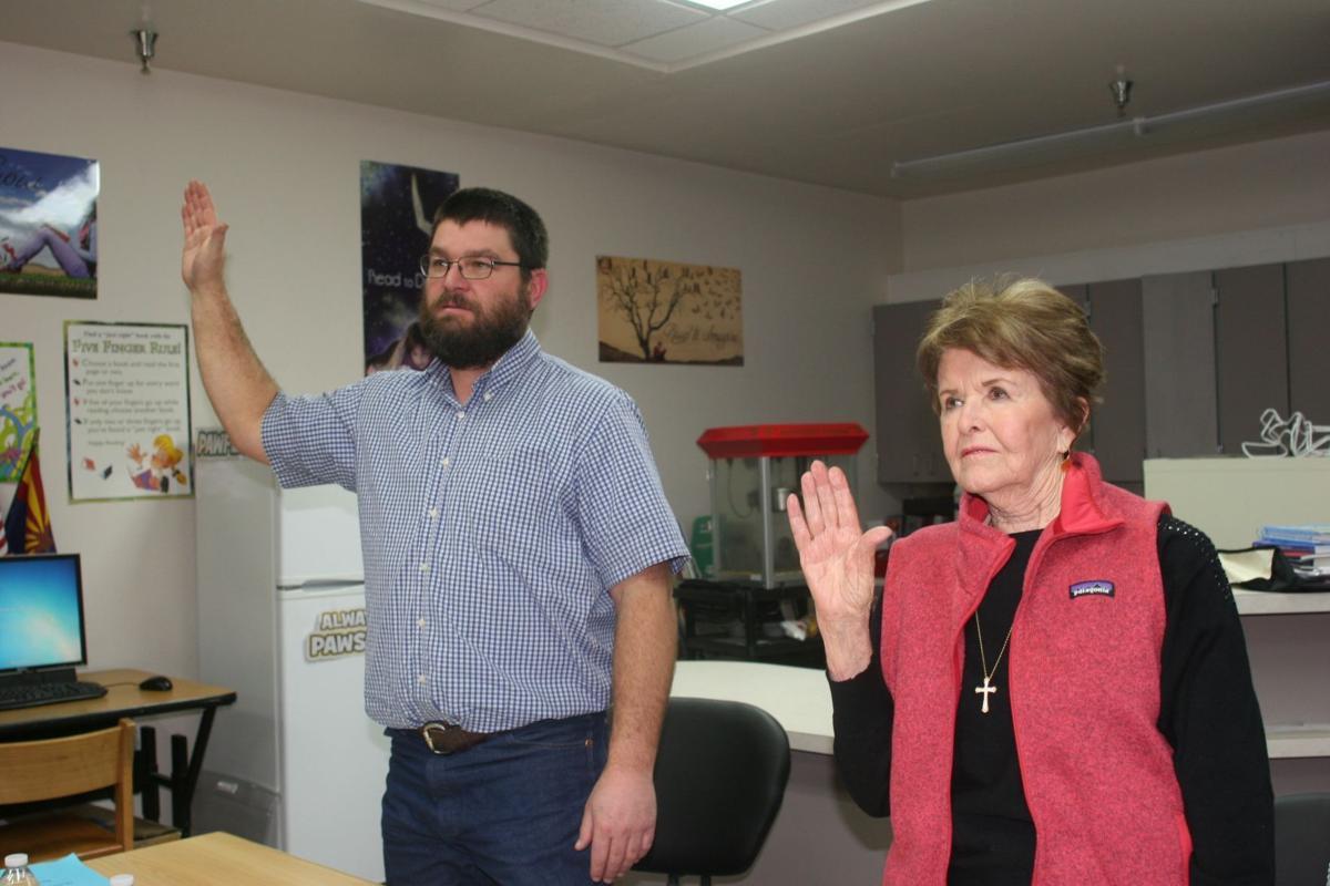 Board members are sworn in