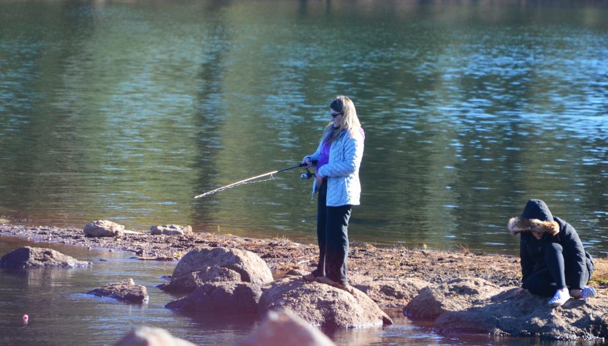 Fishing at Hawley Lake