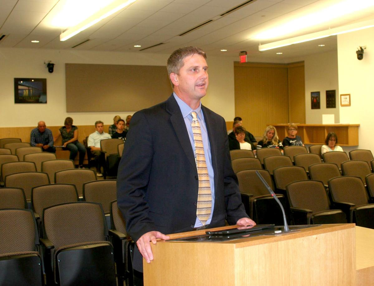 SLHS gym - Superintendent provides update to board