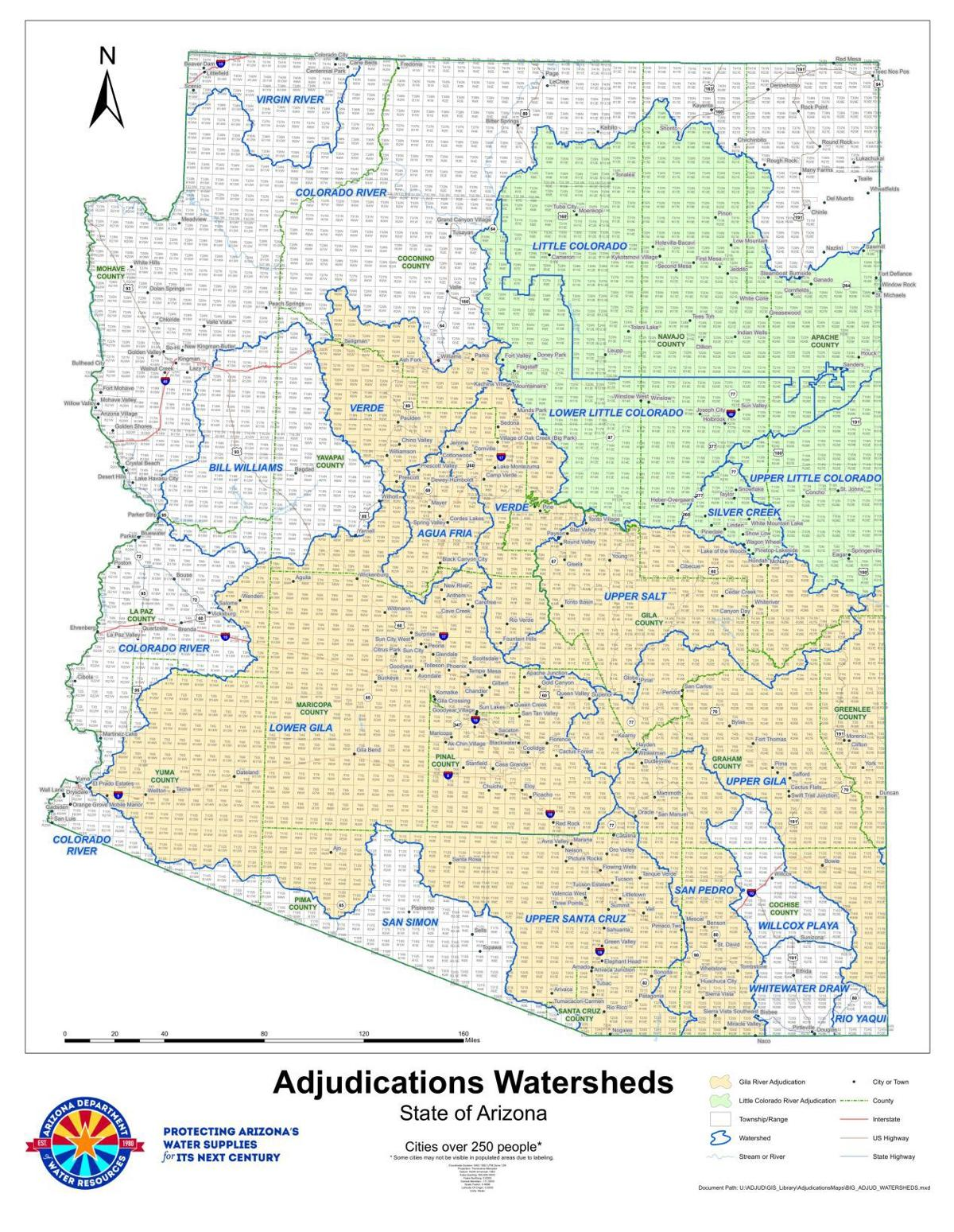 Little Colorado River Watershed map