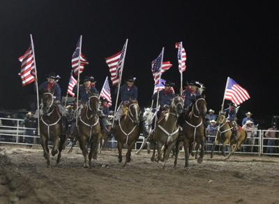 Old Glory at the rodeo