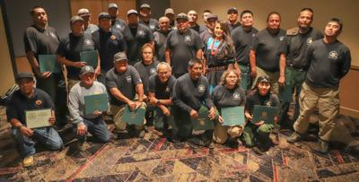 Ft. Apache Agency honoree of Pulaski Award at ceremony at Hon-Dah Casino.