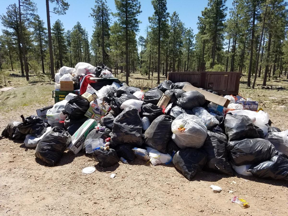 Trash and debris more common that wildfire