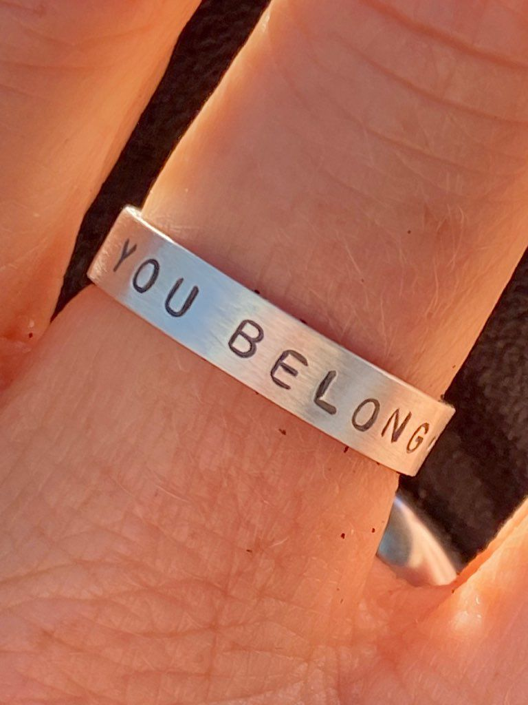You belong ring