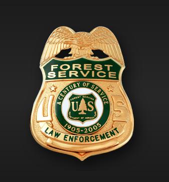 USFS Law enforcement badge