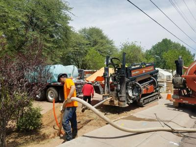 PUSD laying fiber broadband cable