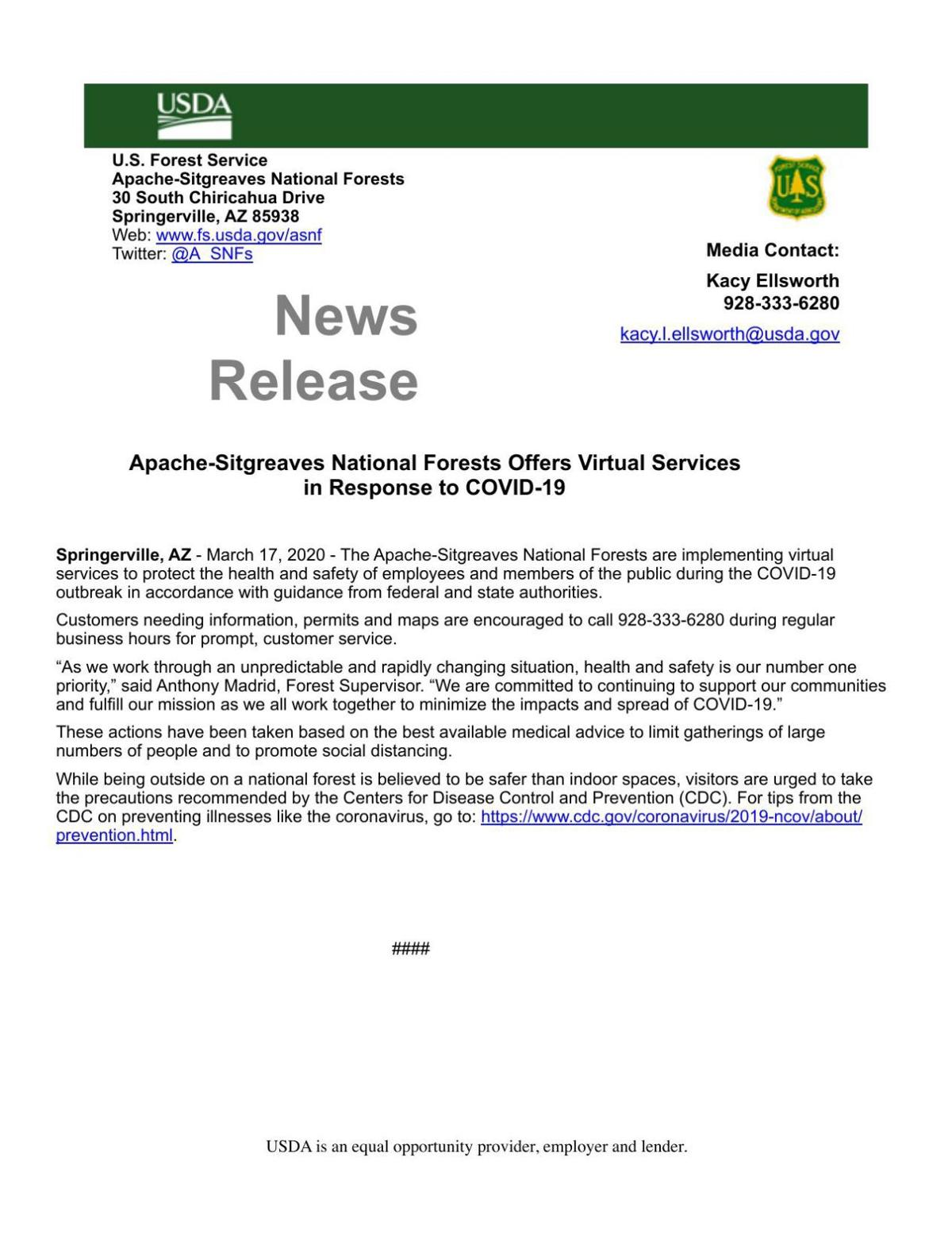 Forest Service implements virtual service