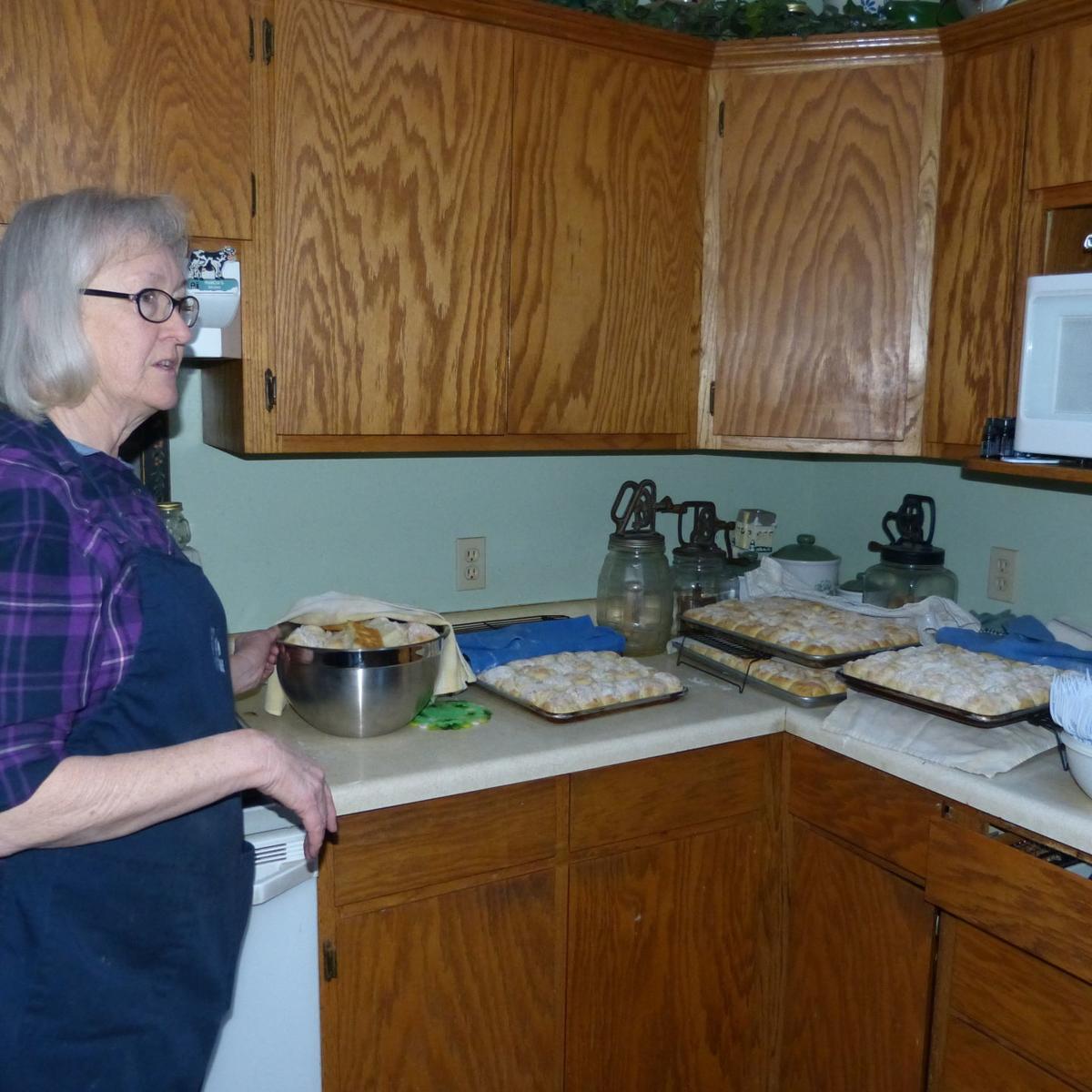 Marsha Whipple in her kitchen