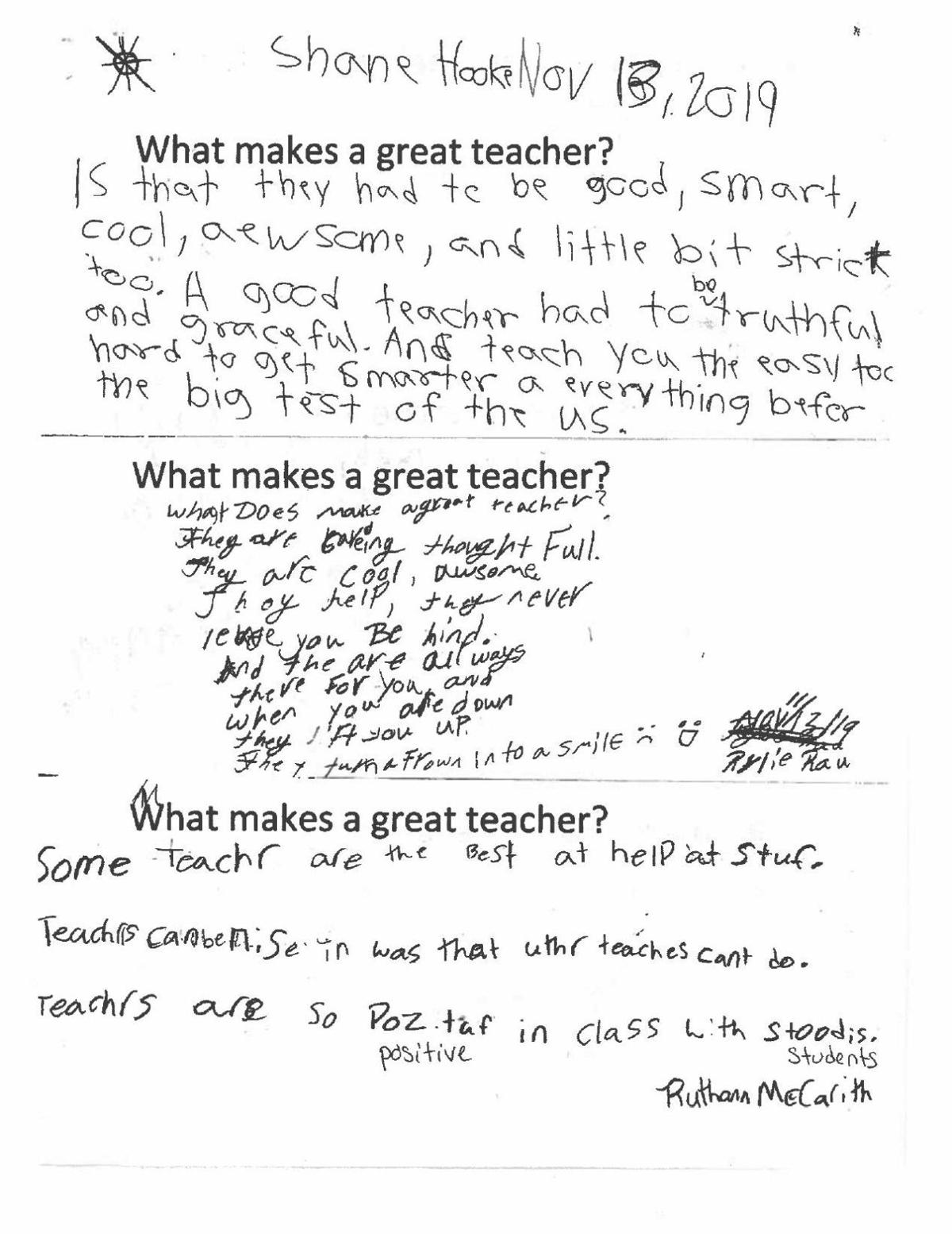 What makes a great teacher?  Page 3