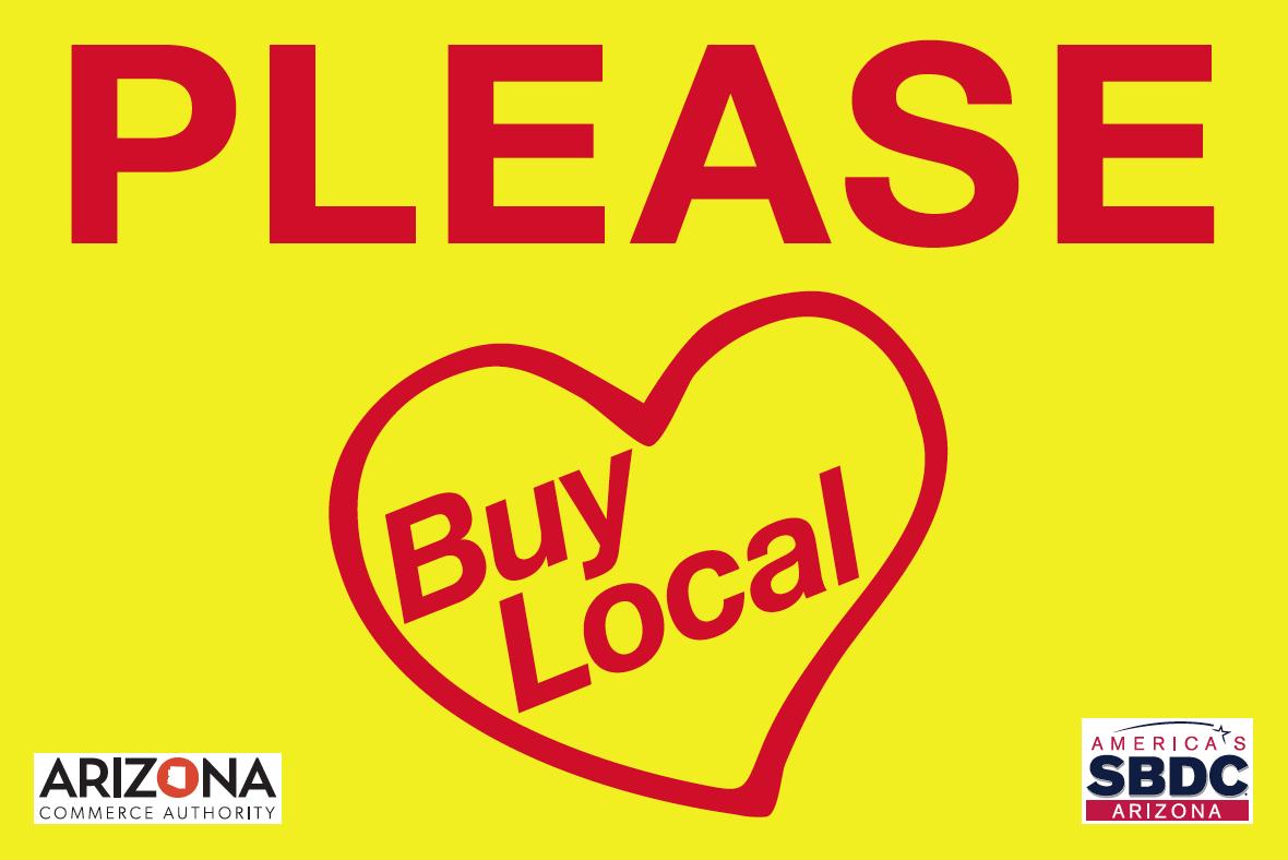 'Please Buy Local' program flag