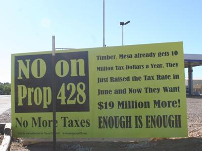 NO on Prop 428 signage