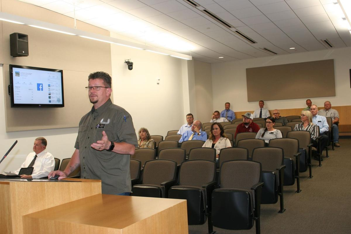 Chamber board attends council meeting