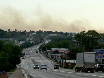 Bagnal Fire skyline