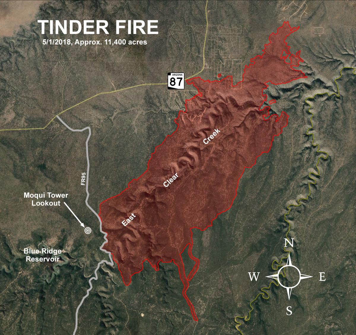 Illegal campfire to blame for start of Tinder Fire | Arizona