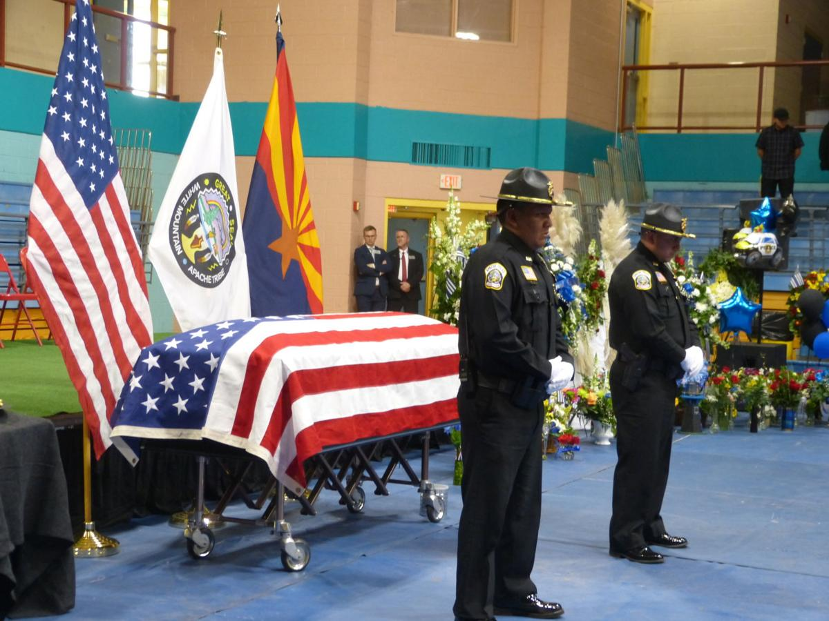 Kellywood funeral-guarding the casket